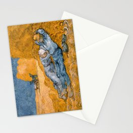 "Vincent van Gogh - Noon Rest From Work (A ""Copy"" of a Jean-François Millet Work) Stationery Cards"