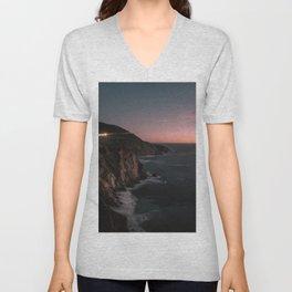 Big Sur Sunset Unisex V-Neck