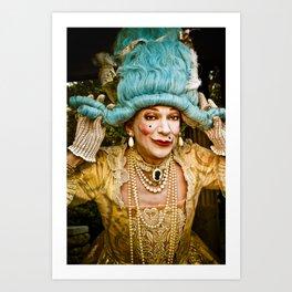 contessa tocado Art Print