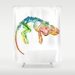 Mammal Fossil Skeleton Shower Curtain