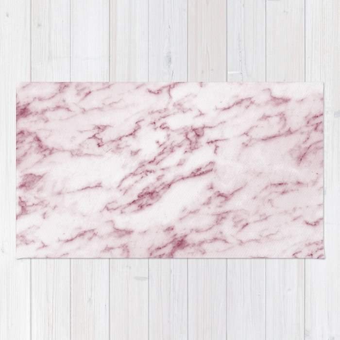 Contento rosa pink marble Rug