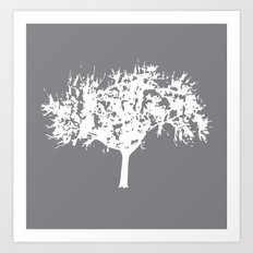 Reverse Tree Art Print