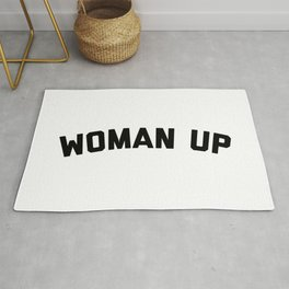 Woman Up Funny Quote Rug