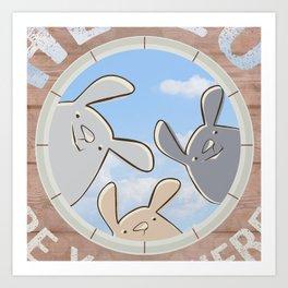 Sweet bunnies Art Print