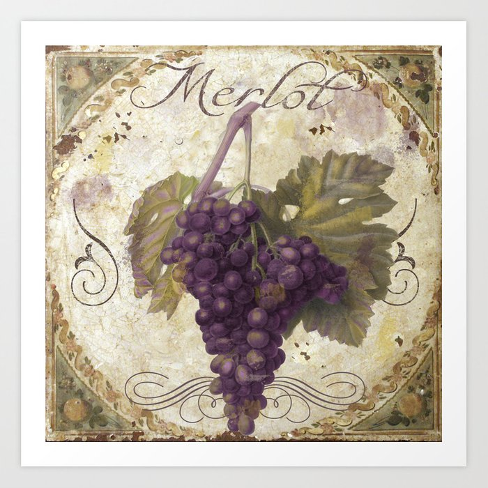 Tuscan Table Merlot Kunstdrucke