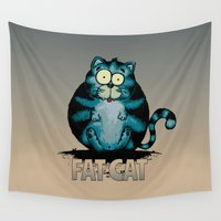 arnold Wall Tapestries featuring Fat Cat by mangulica