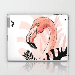 Tropical pink Flamingo print Laptop & iPad Skin