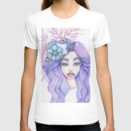 JennyMannoArt Colored Graphite/Keira the Mermaid T-shirt