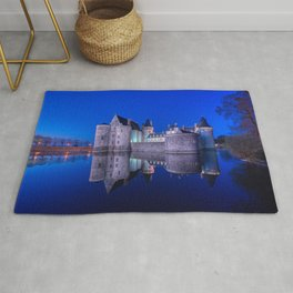 Sully sur Loire at night, Loire valley, France. Rug