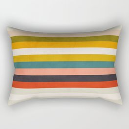 modern abstract stripe geometric Rectangular Pillow