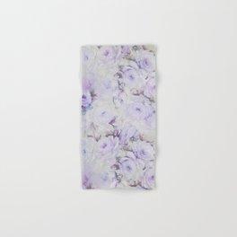 Vintage lavender gray botanical roses floral Hand & Bath Towel