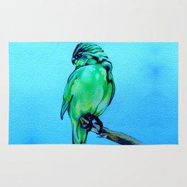 Kakariki - The NZ Red-Crowned Parakeet Rug
