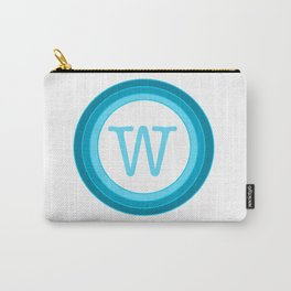 blue letter W Carry-All Pouch