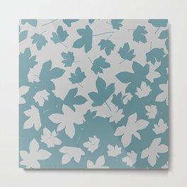 Grey leaves decor envelop.  Metal Print