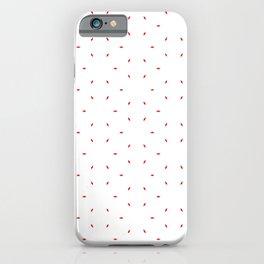 Red subtle pattern iPhone Case