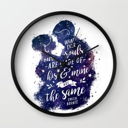 Whatever our souls Wall Clock