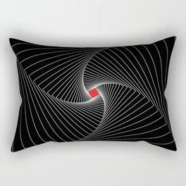 White, black, red - Optical Game 26 Rectangular Pillow