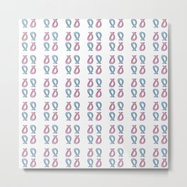 Symmetric patterns 196 blue and pink Metal Print