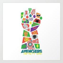 Avenger Infinity War Art Print