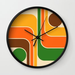 Retro Geometric Gradated Design 722 Wall Clock