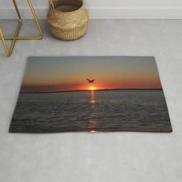Flying at Sunset Rug