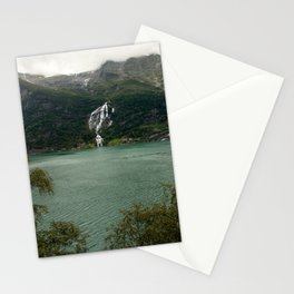 Waterfall and a lake in Norway   | nature photo | fine art photo print | travel photography Stationery Cards