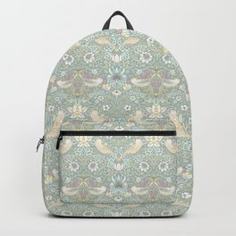 William Morris Pastel Strawberry Thief Pattern Backpack