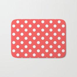 Polka Dots (White & Red Pattern) Bath Mat