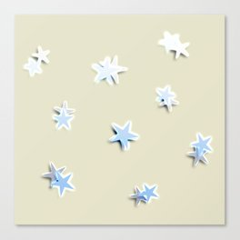 Shiny little stars Canvas Print