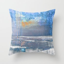Blue Color Patches Throw Pillow