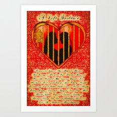 LOVE MY PERFECT PRISON  - 020 Art Print