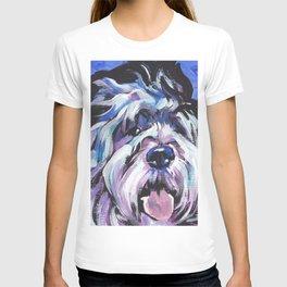 fun Polish Lowland Sheepdog Dog bright colorful Pop Art T-shirt