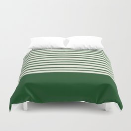 Holiday x Green Stripes Duvet Cover
