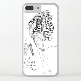 Thelma&Louise vintage sketch Clear iPhone Case