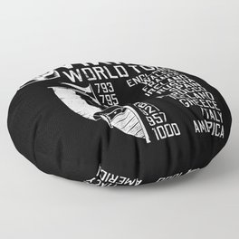 Viking World Tour - Raid Dates Floor Pillow