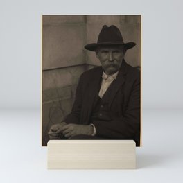 Doris Ulmann  (1882–1934), Covey Odhom, Tanner, Luther, Tennessee. Elderly man with mustache, in hat Mini Art Print