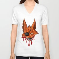 fnaf V-neck T-shirts featuring FNAF: Foxy the Pirate by Hide-N-Seek