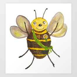 Happy Bee Art Print