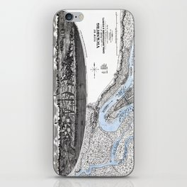 Vicksburg - Fortifications map - Mississippi - 1863 iPhone Skin
