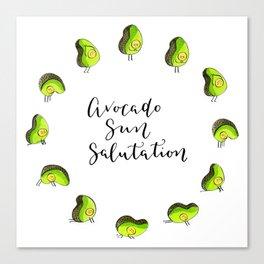 Avocado Sun Salutation Canvas Print