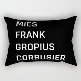 Modern Architecture (Black) Rectangular Pillow