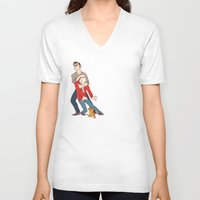 derek hale V-neck T-shirts featuring goober derek by krakenface
