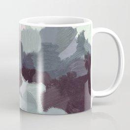Dark Green Lilac Purple Gray Black Abstract Wall Art, Painting Art, Modern Wall Art Coffee Mug