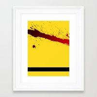 kill bill Framed Art Prints featuring Kill Bill by Electric Avenue