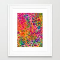 flora Framed Art Prints featuring Flora by Amy Sia