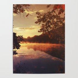 Early morningsun- Forest Sun Lake Trees Poster