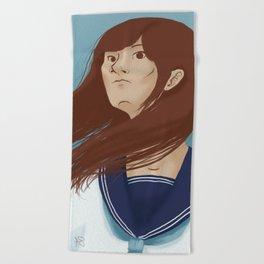 Serafuku Girl Beach Towel