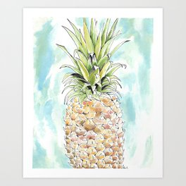 The Colorful Pineapple Art Print