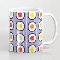 sushi Mugs featuring Sushi by Costanza Reda