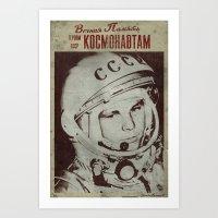 Cosmonautics Day Poster Art Print